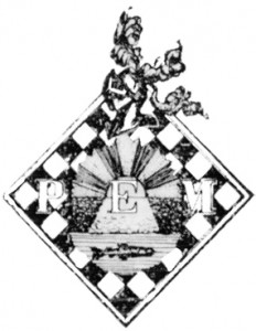 Escut de la Penya d'Escacs Mollet (1931-1936).