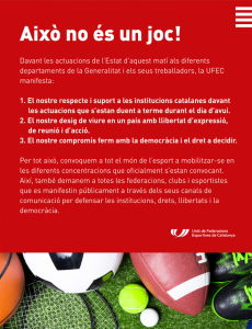 Manifest de l'esport català